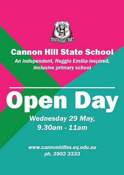 Cannon Hill State School Open Day 29 May 9.30am-11am